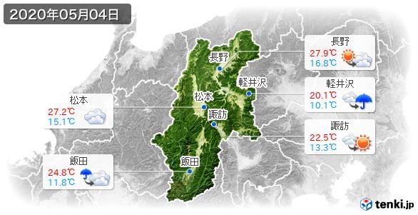 長野県(2020年05月04日の天気