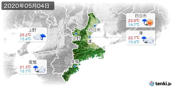 三重県(2020年05月04日の天気