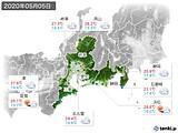 2020年05月05日の東海地方の実況天気