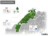 2020年05月05日の島根県の実況天気