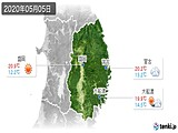 2020年05月05日の岩手県の実況天気