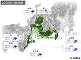 2020年05月06日の東海地方の実況天気