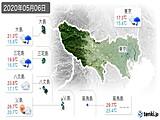 2020年05月06日の東京都の実況天気