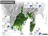 2020年05月06日の静岡県の実況天気