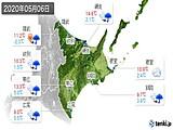 2020年05月06日の道東の実況天気