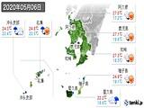 2020年05月06日の鹿児島県の実況天気