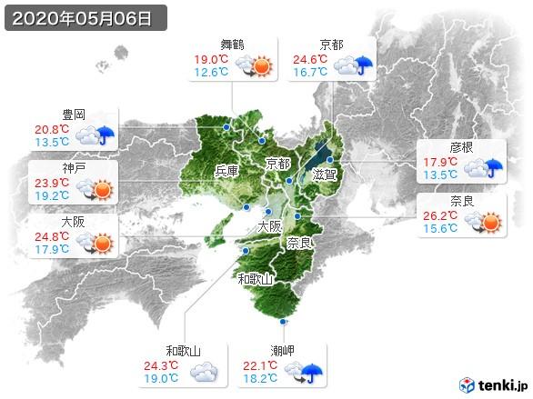 近畿地方(2020年05月06日の天気