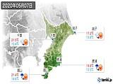 2020年05月07日の千葉県の実況天気