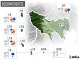 2020年05月07日の東京都の実況天気
