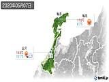 2020年05月07日の石川県の実況天気