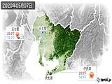 2020年05月07日の愛知県の実況天気
