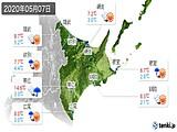 2020年05月07日の道東の実況天気