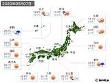2020年05月07日の実況天気