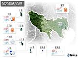 2020年05月08日の東京都の実況天気