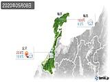 2020年05月08日の石川県の実況天気