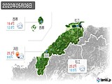 2020年05月08日の島根県の実況天気