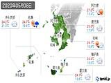 2020年05月08日の鹿児島県の実況天気