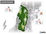 2020年05月08日の山形県の実況天気