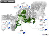 2020年05月09日の東海地方の実況天気