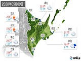 2020年05月09日の道東の実況天気