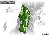 2020年05月09日の山形県の実況天気