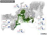 2020年05月10日の東海地方の実況天気