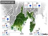 2020年05月10日の静岡県の実況天気
