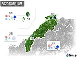 2020年05月10日の島根県の実況天気