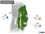 2020年05月10日の岩手県の実況天気