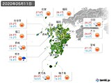 2020年05月11日の九州地方の実況天気