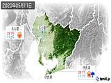 2020年05月11日の愛知県の実況天気