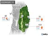2020年05月11日の岩手県の実況天気