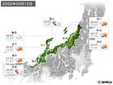 2020年05月12日の北陸地方の実況天気