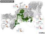 2020年05月12日の東海地方の実況天気