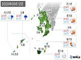 2020年05月12日の鹿児島県の実況天気