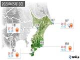 2020年05月13日の千葉県の実況天気