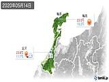 2020年05月14日の石川県の実況天気