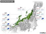2020年05月15日の北陸地方の実況天気