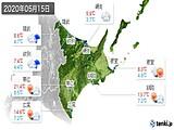 2020年05月15日の道東の実況天気