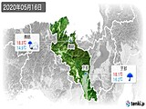2020年05月16日の京都府の実況天気
