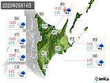 2020年05月16日の道東の実況天気