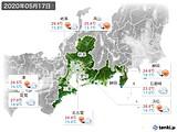 2020年05月17日の東海地方の実況天気
