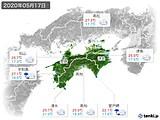 2020年05月17日の四国地方の実況天気