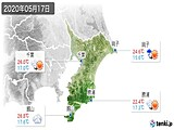 2020年05月17日の千葉県の実況天気