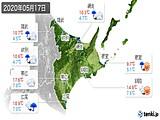 2020年05月17日の道東の実況天気