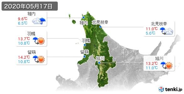 道北(2020年05月17日の天気