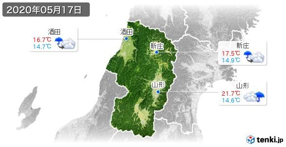 山形県(2020年05月17日の天気