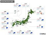 2020年05月18日の実況天気