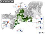2020年05月19日の東海地方の実況天気