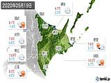 2020年05月19日の道東の実況天気